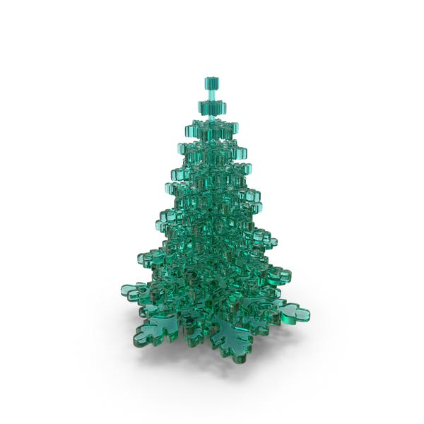 Thumbnail for Stylized Snowflake Glass Tree