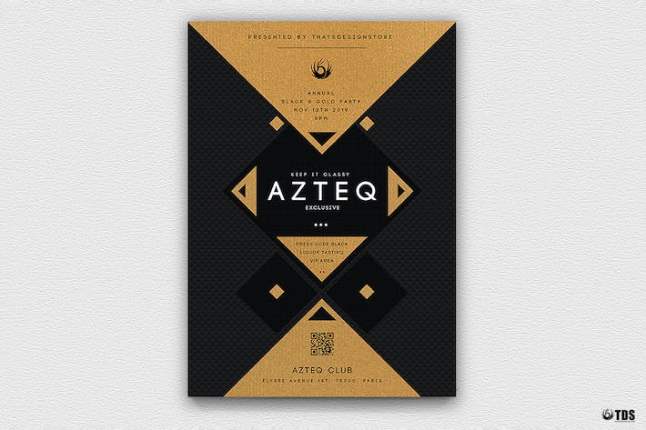 Cover Image For Minimal Black and Gold Flyer Template V3