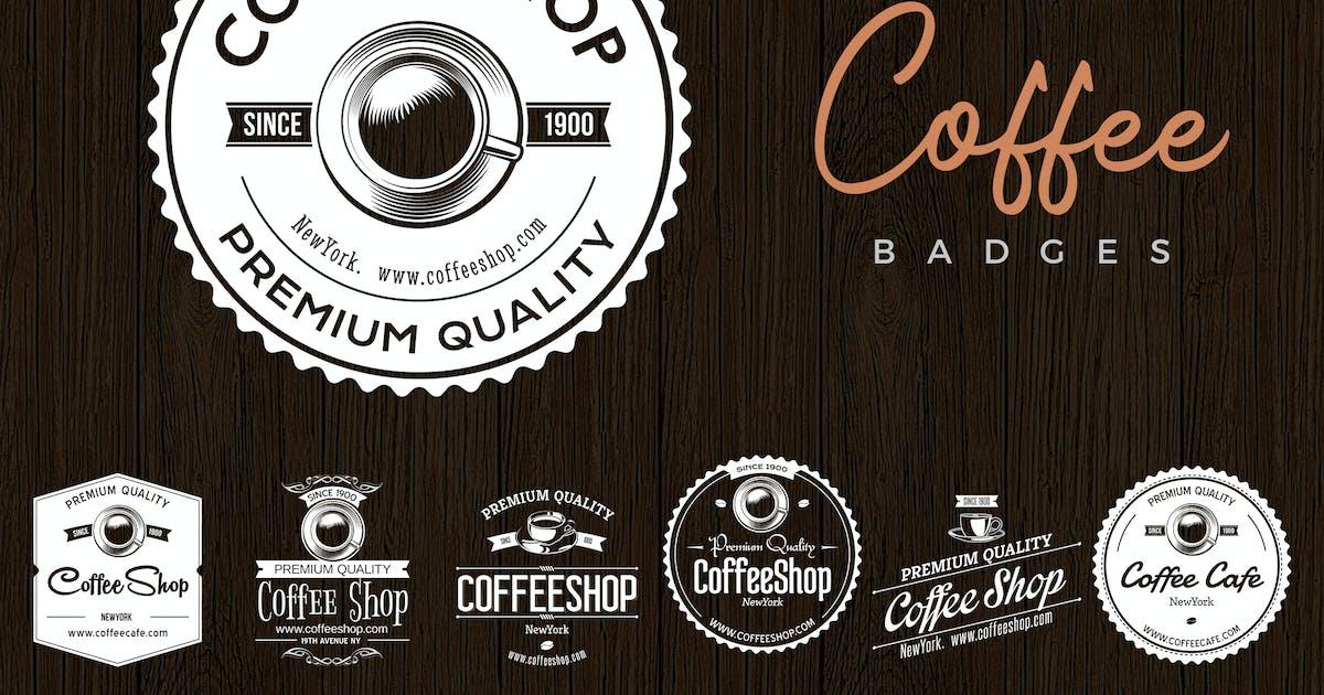 Download Retro Vintage Coffee Badges by creativeartx