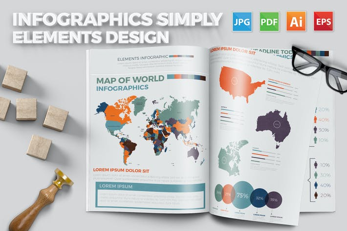Thumbnail for Infographics Simply Design
