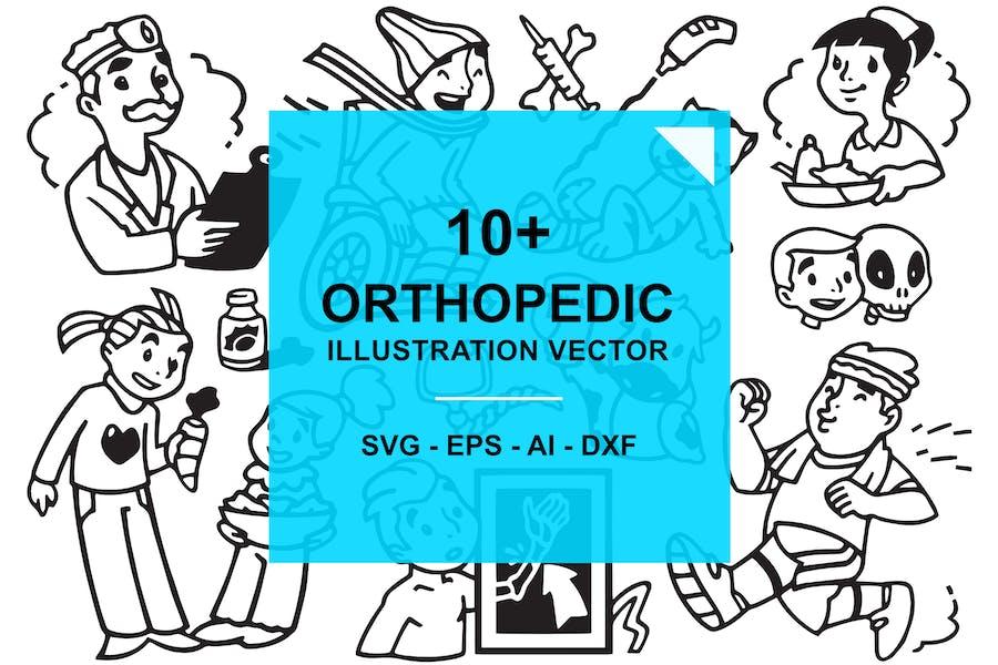 Orthopedic Medical Doodles Illustration