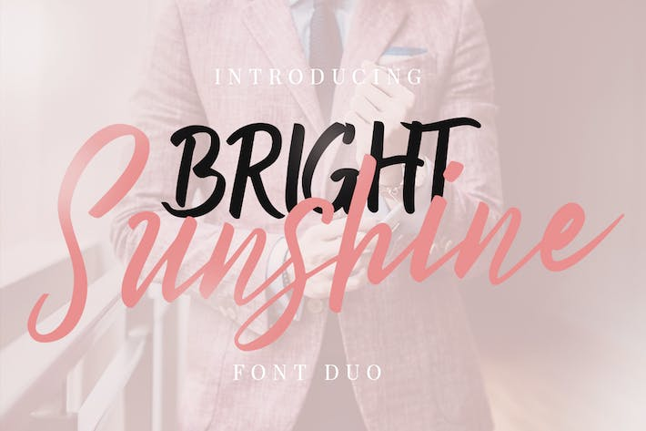 Thumbnail for Bright Sunshine Font Duo