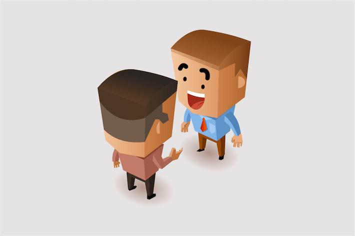 Thumbnail for Gespräch mit Geschäftspartnern