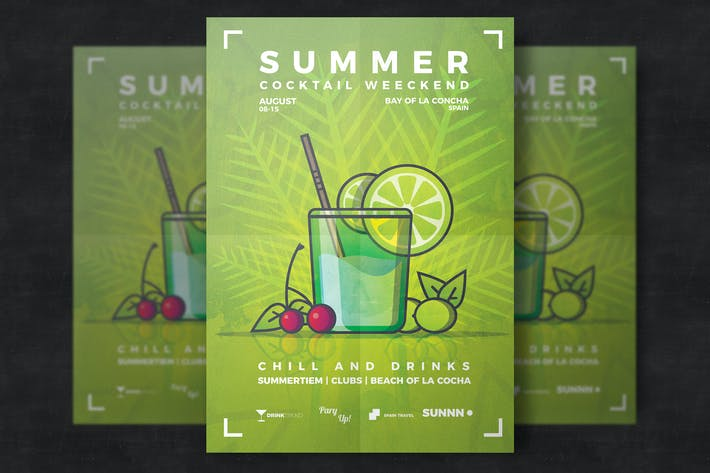 Thumbnail for Summer Cocktail Flyer Template