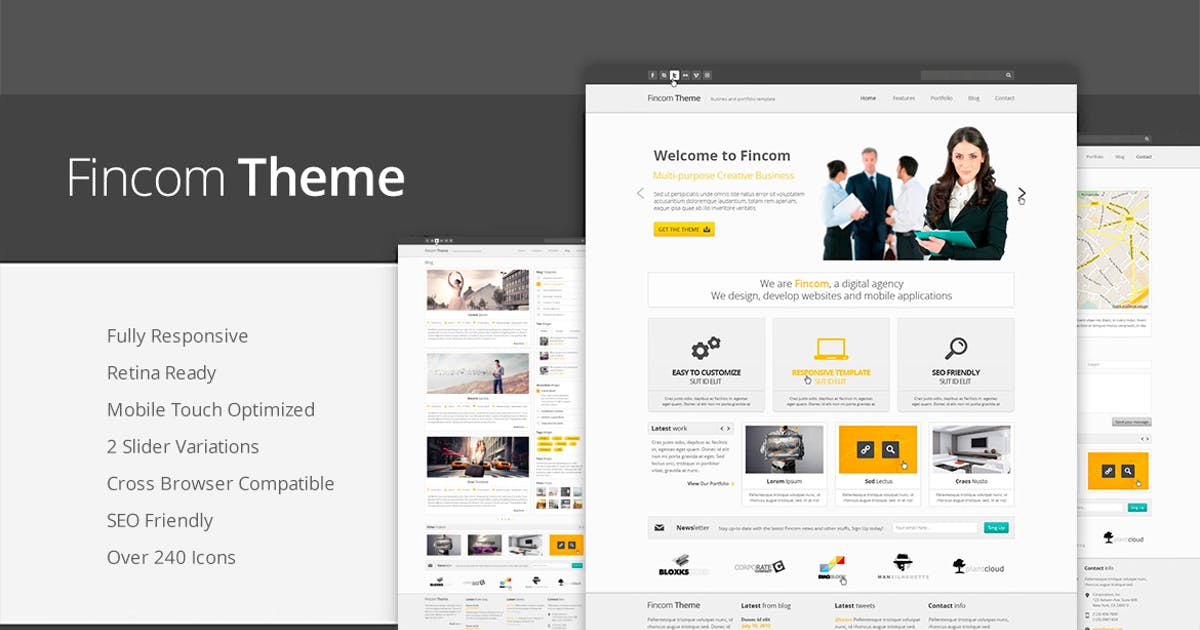 Download Fincom - Responsive HTML Template by abcgomel