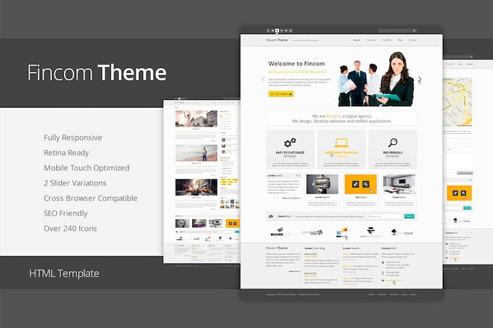 Fincom responsive html template by abcgomel on envato elements cover image for fincom responsive html template maxwellsz