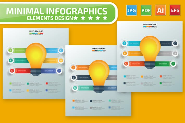 Thumbnail for Light bulb Infographic Design