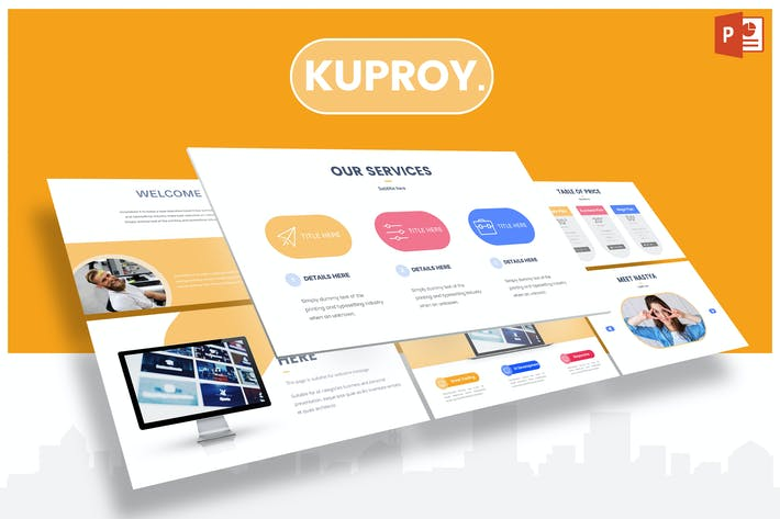Thumbnail for Kuproy - Шаблон Powerpoint