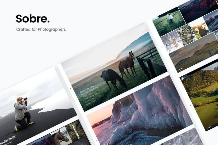 Cover Image For Sobre - Minimal Photography Portfolio HTML Templat