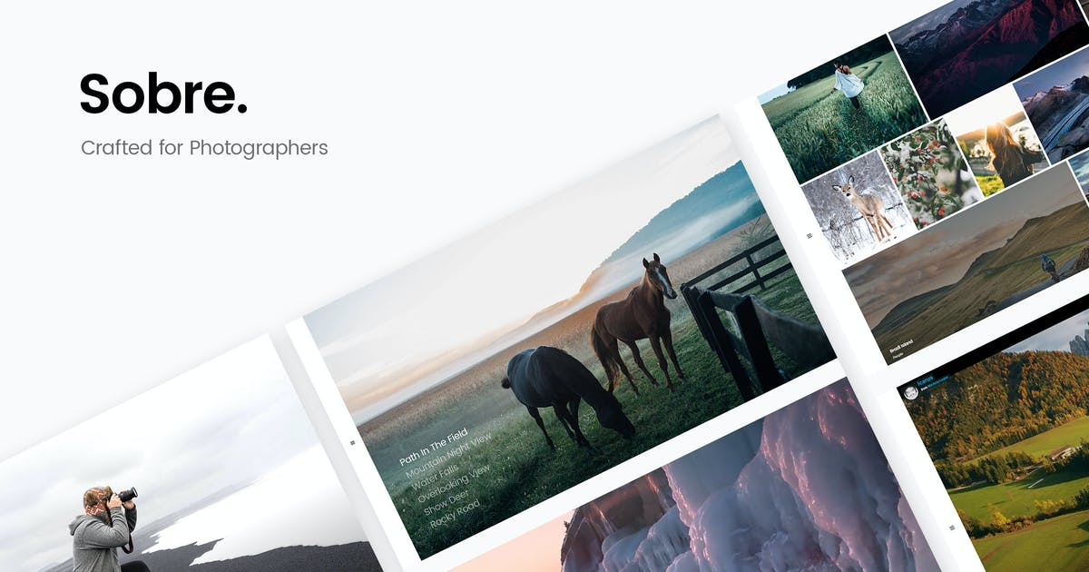 Download Sobre - Minimal Photography Portfolio HTML Templat by DeoThemes