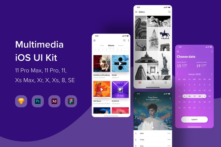 Thumbnail for Multimedia iOS UI Kit