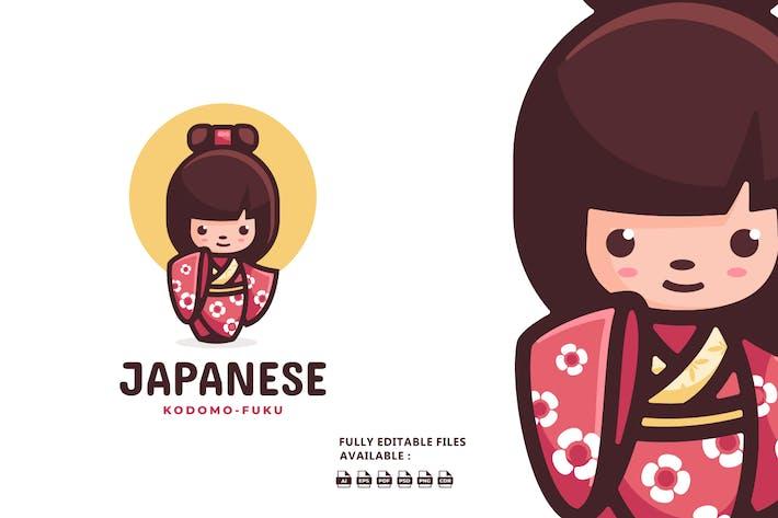 Child Japanese Cartoon Logo