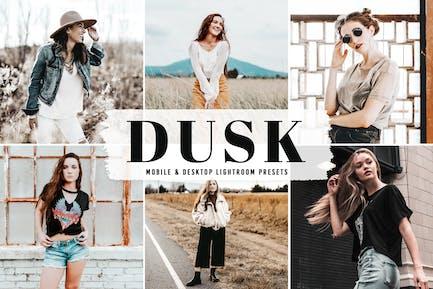 Dusk Mobile & Desktop Lightroom Presets