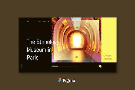 VMT - Virtual Museum Tour Header Design Figma
