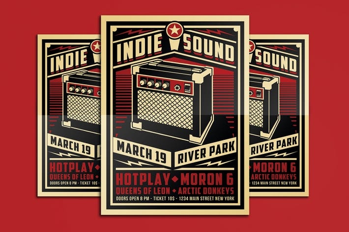Thumbnail for Indie Sound Flyer Poster