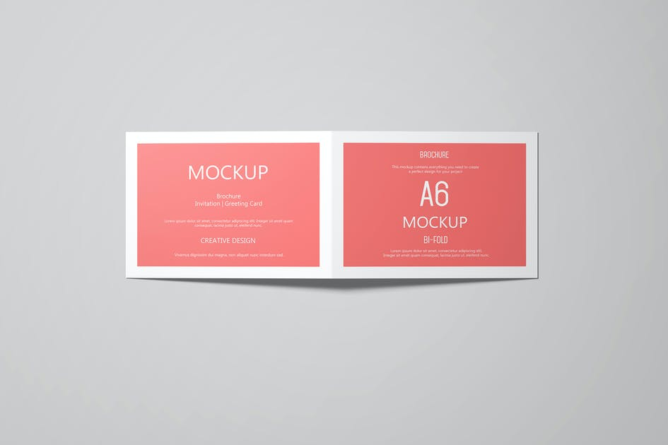 Download A6 Landscape Greeting Card Invitation Mockup Set 2 by professorinc