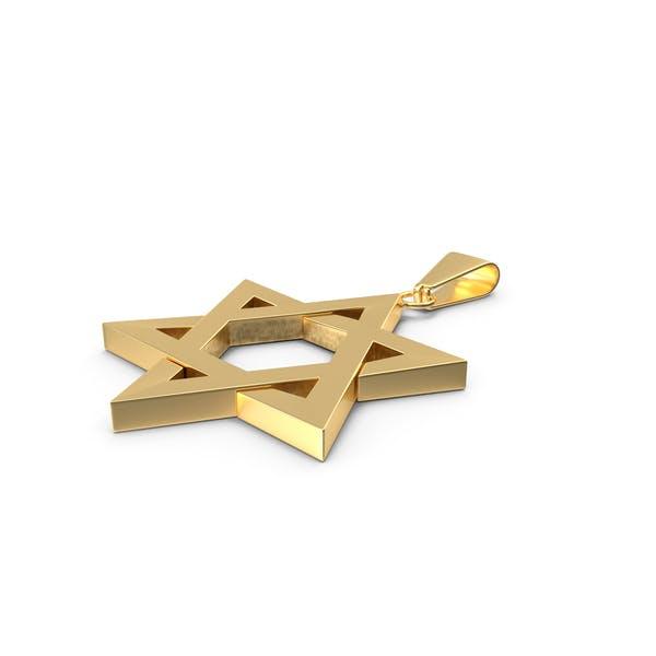 Davidstern Halskette Gold