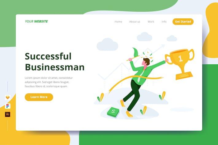 Thumbnail for Homme d'affaires prospère - Page de destination