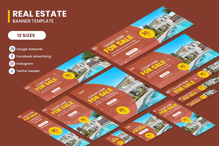 Thumbnail for Real Estate Banner Template