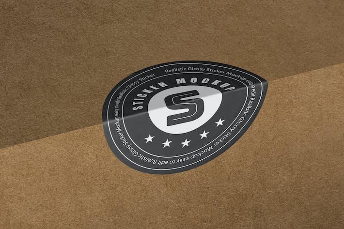 Thumbnail for Box Sticker Mockup