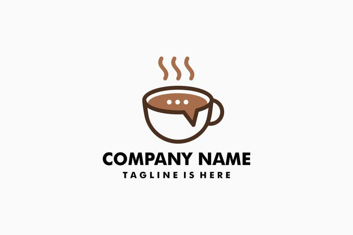 Thumbnail for Coffee Talk Logo Template