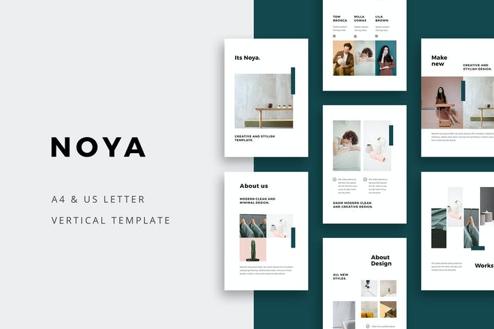 Thumbnail for NOYA - Vertical Powerpoint Template