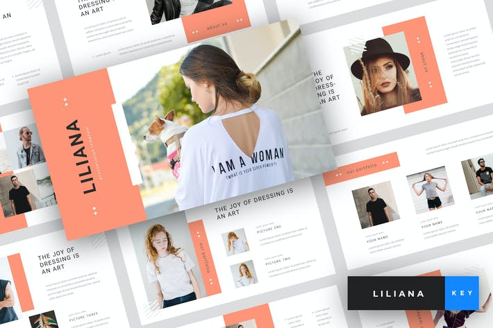 Thumbnail for Liliana - Fashion Keynote Template