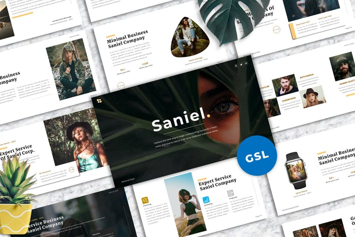 Saniel - Creative Googleslide Template