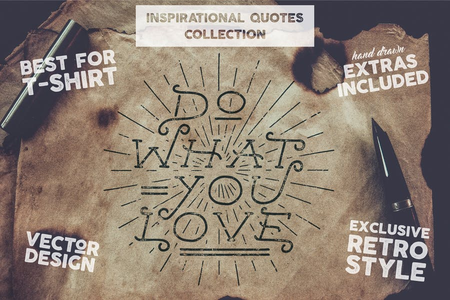 Inspiration Lettering Quotes + Extras / Typography