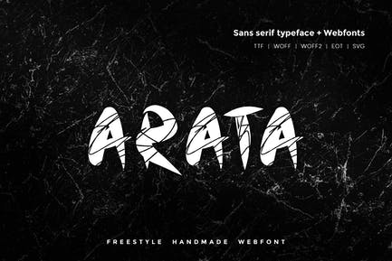 Arata - Handmade freestyle Scratchy Webfont