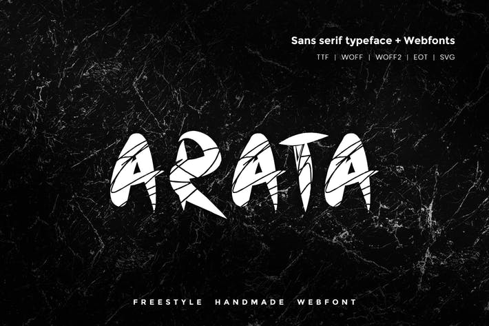 Thumbnail for Arata - Handmade freestyle Scratchy Webfont
