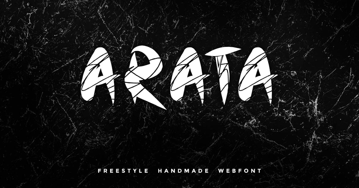 Download Arata - Handmade freestyle Scratchy Webfont by webhance
