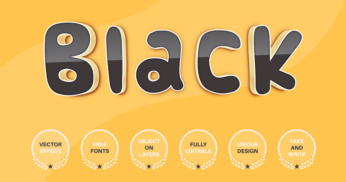Download Black reflect - editable text effect, font style by rwgusev