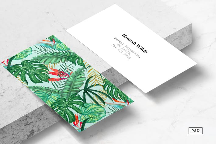 Cover Image For The Tropics Business Card Template