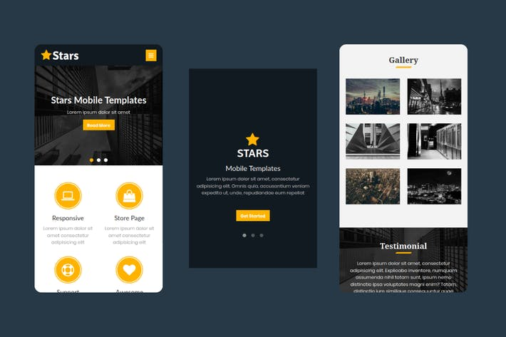 Thumbnail for Stars - Multipurpose Mobile Template