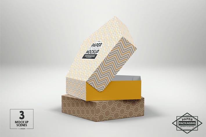 Pentagon Pastry Box Packaging Mockup
