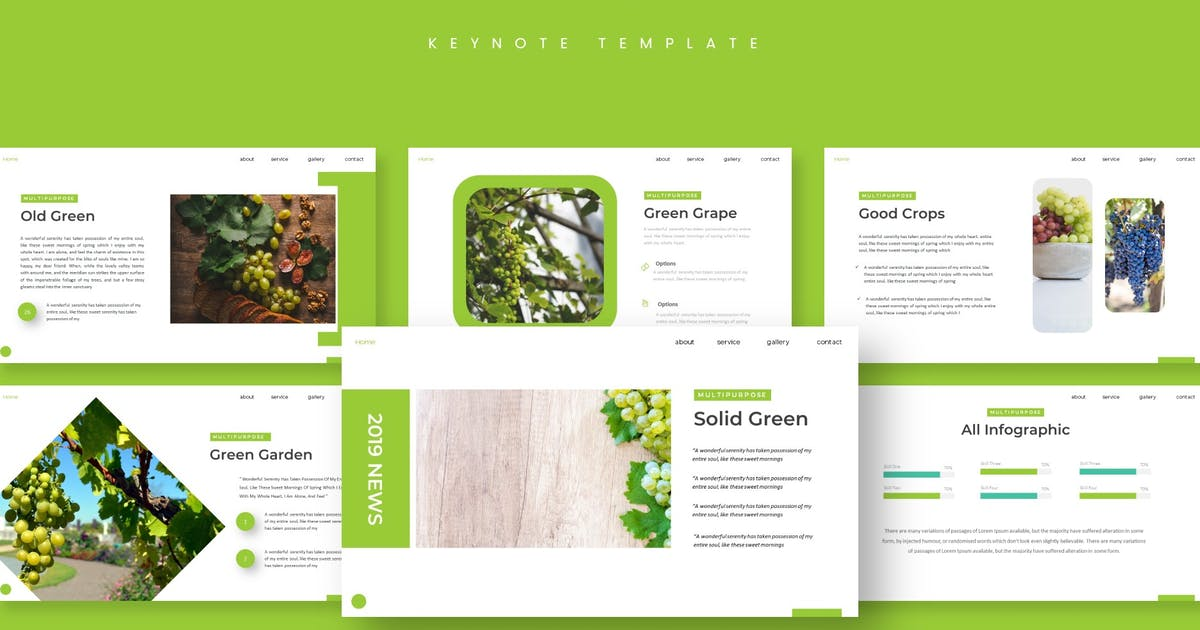 Download Botany - Keynote Template by aqrstudio
