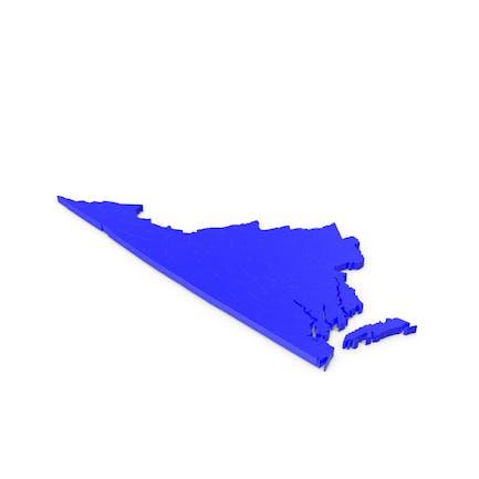 Карта округов Вирджиния