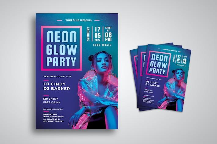 Thumbnail for dépliant Neon Party