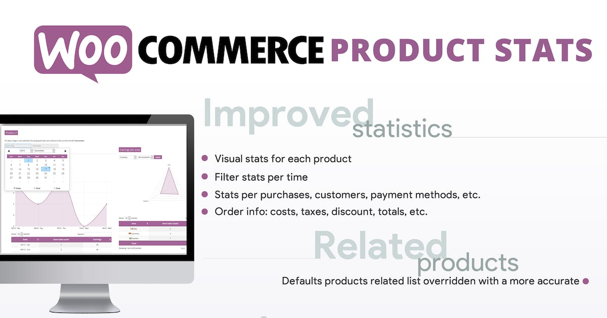 WooCommerce Product Stats and Related! by vanquish