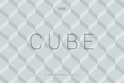 Cube| Seamless Geometric Backgrounds | Vol. 01