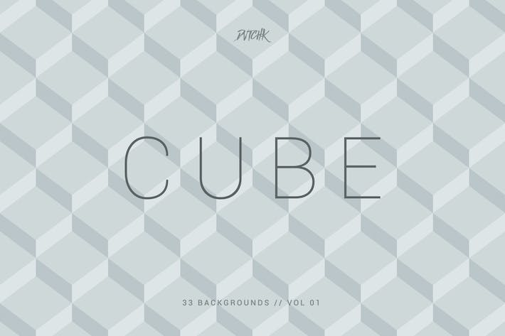Thumbnail for Cube| Seamless Geometric Backgrounds | Vol. 01