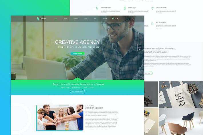 Thumbnail for Opton - Multi-Purpose PSD Template