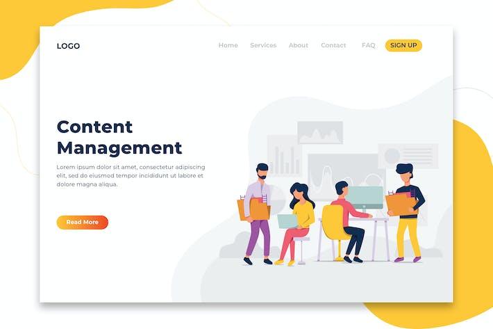Thumbnail for Content Management business concept - Landing Page