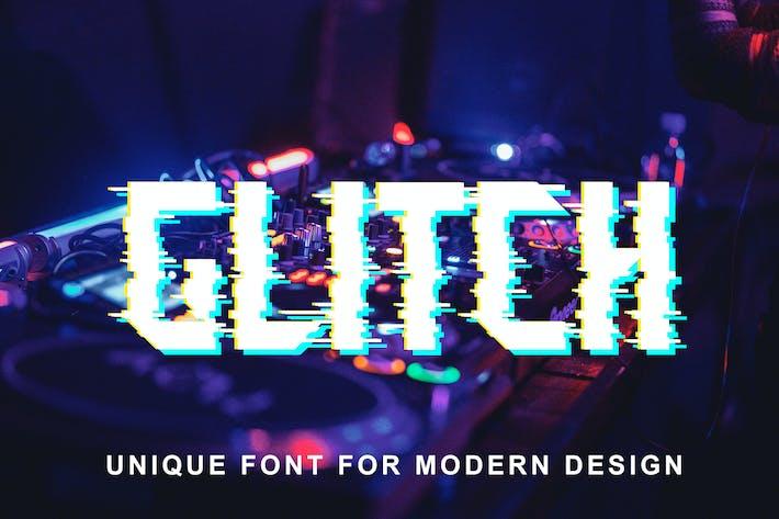 Block Glitch Font