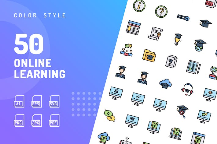 Thumbnail for Online Learning Color Icons