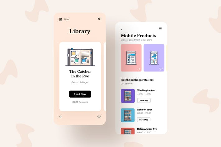 Thumbnail for Products Mobile Interface Illustrations
