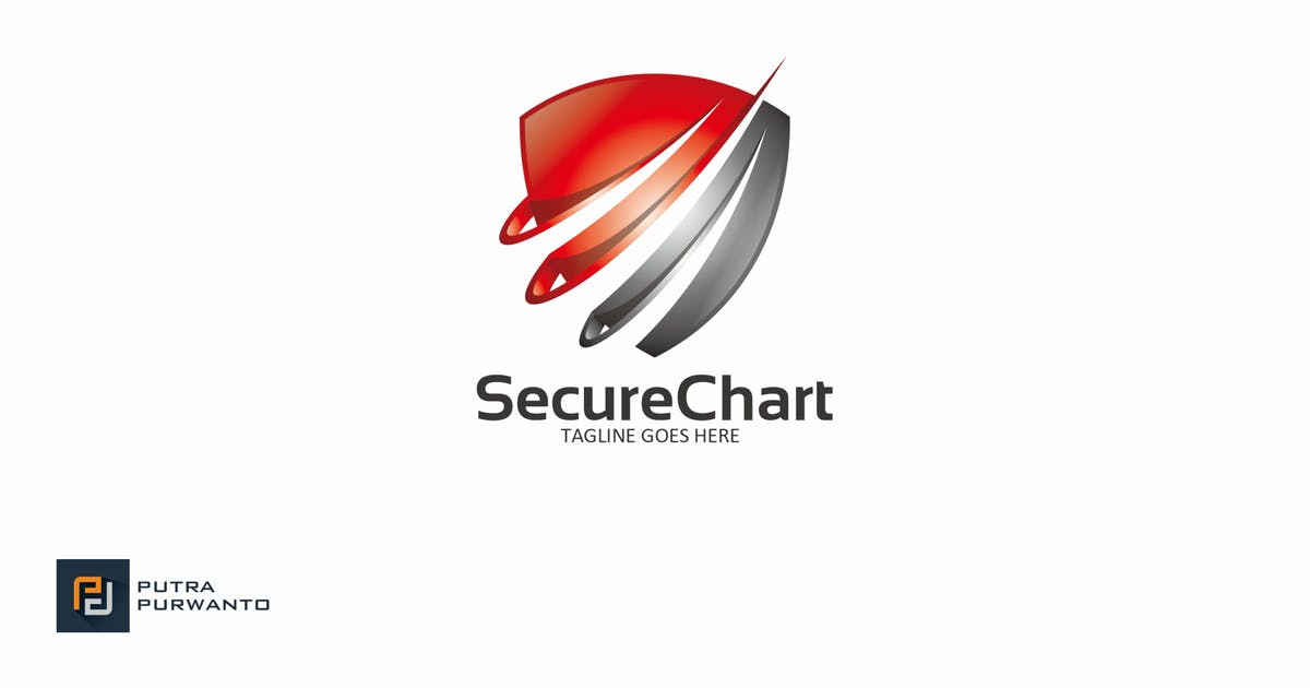 Download Secure Chart - Logo Template by putra_purwanto