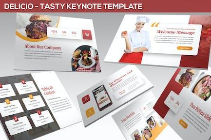 Delicio - Tasty Keynote Template