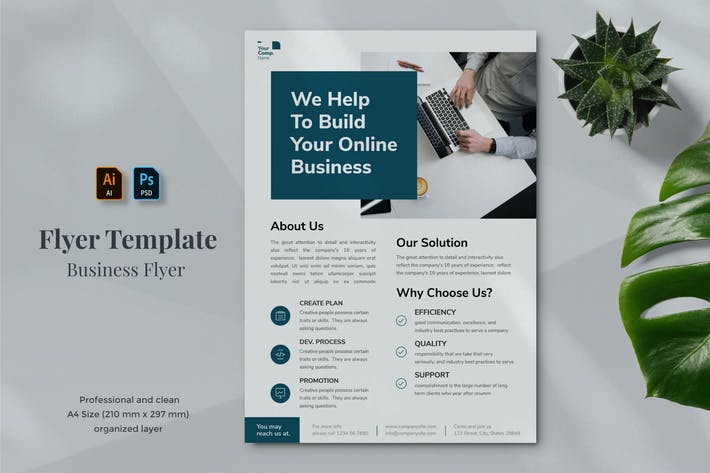 Thumbnail for Business Flyer Template 13